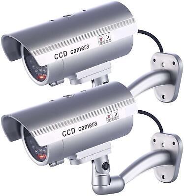 2 SecurityCamera Dummy-Fake Indoor Outdoor CCTV Dummy 30 Security Safe LED Light