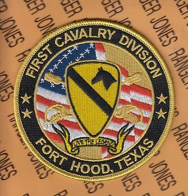 US Army 1st Cavalry Division Fort Hood Texas Veteran T-Shirt First Team