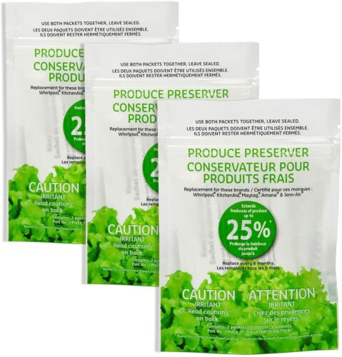 W10346771A Refrigerator Fresh Flow Produce Preserver ( 3 replacements-6packs )