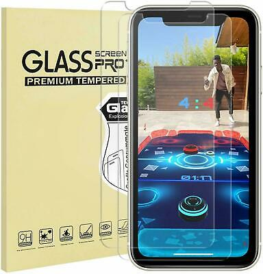 For Apple iPhone 11 11 Pro Max XR XS X 2 Pack Screen Protector Glass & Gel Case