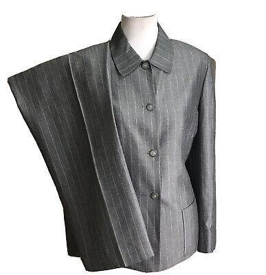 TAHARI Women 2 PC Gray Striped Pant Suit Size 12