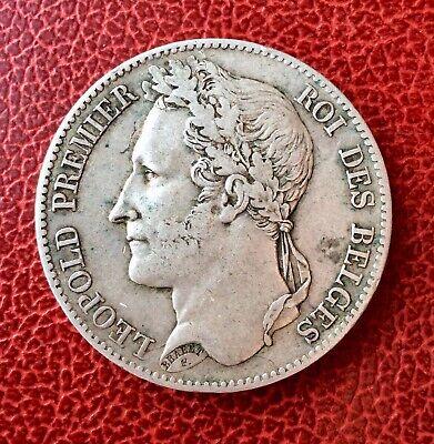 Belgique - Léopold Ier -Très Jolie Monnaie 5 Francs 1848  - Lauré (3)