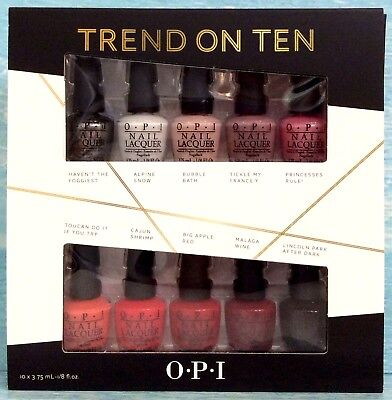 OPI TREND ON TEN 10-pc Mini Polish Gift Set like TAKE TEN, TOP TEN, BEST of BEST for sale  Shipping to India