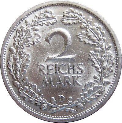J320  2 Mark Weimar von 1926 D in f.STG   682 013