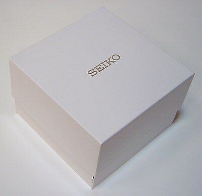 Genuine SEIKO Deluxe Watch box Gents / Ladies Cushioned Faux Leather inside NEW