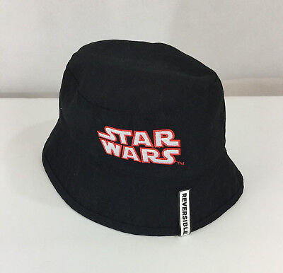 Star Wars Bucket Hat Boys NWT Reversible Graphic Black Stormtroopers 2-Sides New