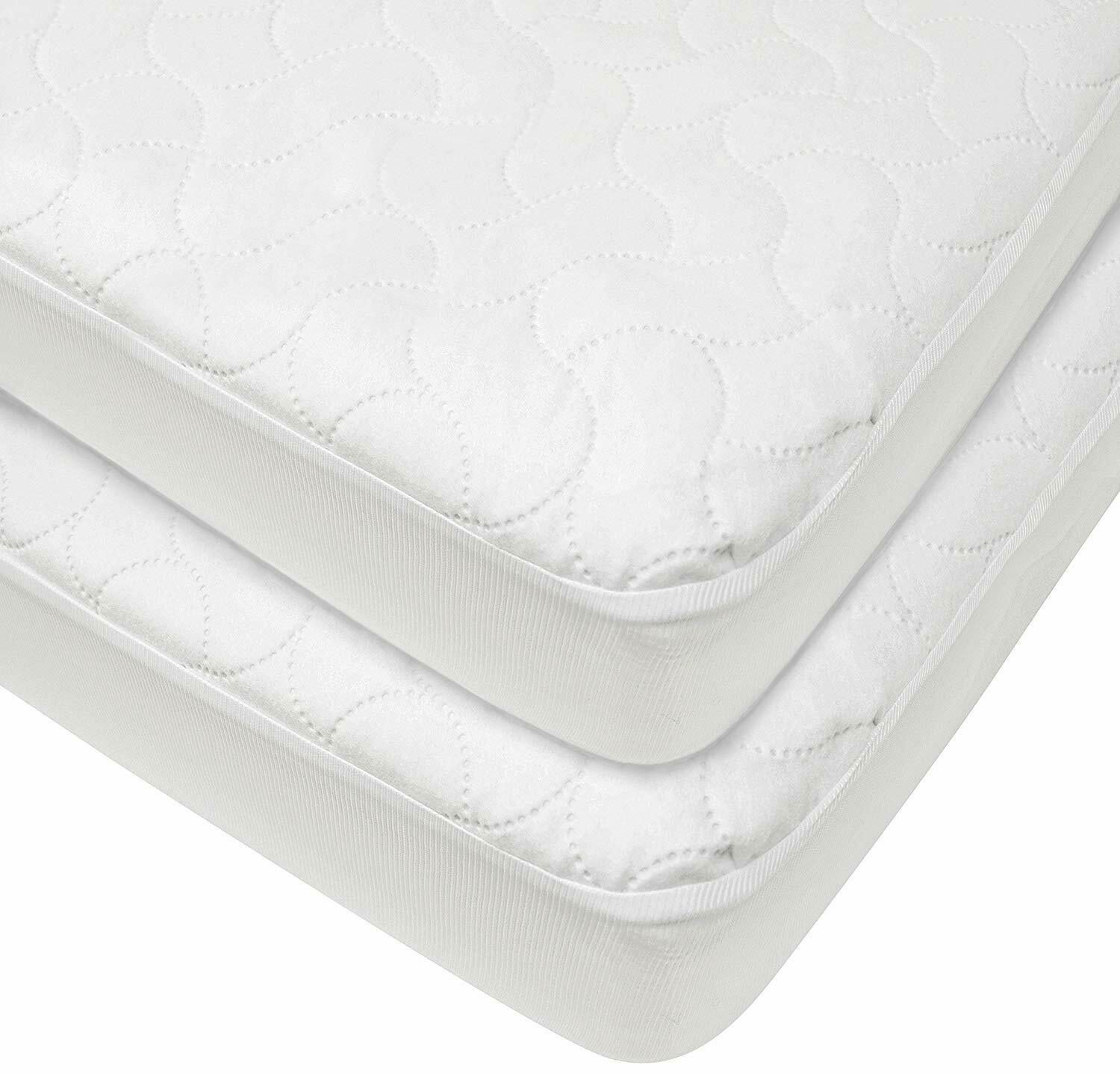American Baby Company 2 Pack Waterproof Fitted Quilted Crib