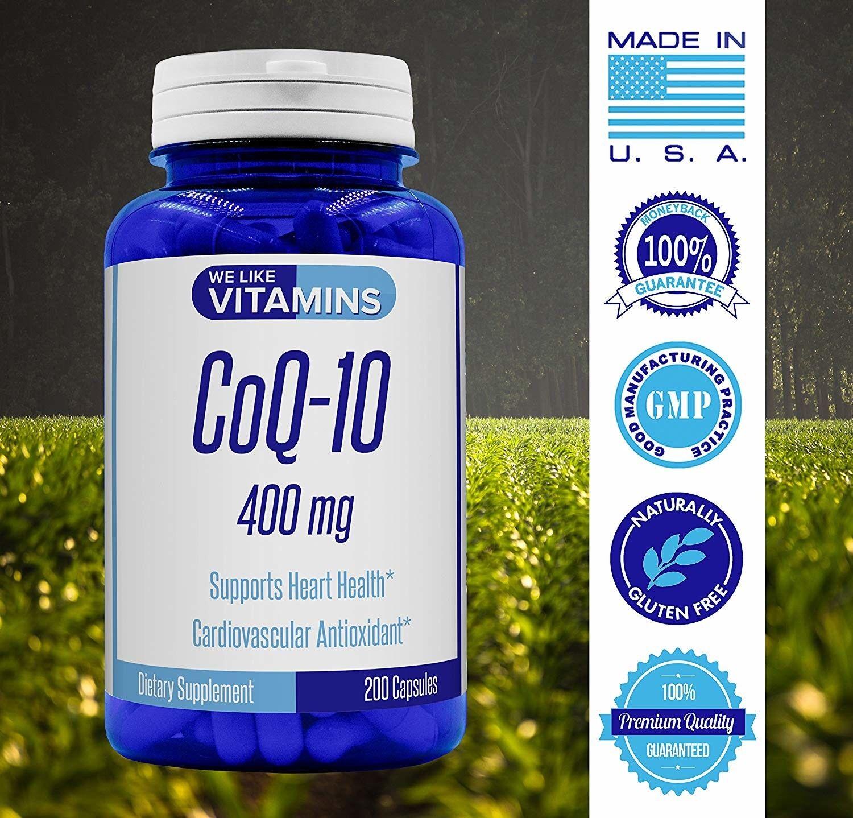 Coenzyme Q10 400mg COQ10 Heart Health Products We Like Vitam