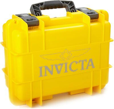 NEW Invicta 8 Slots Impact Diver Yellow & Black impact Resistant Collector Case