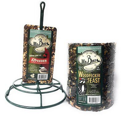 Mr. Bird Woodpecker Feast Large Cylinder with Feeder - Bird Seed
