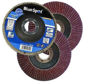 15-X-FLAP-DISCS-115mm-SANDING-40-60-80-120-GRIT-GRINDING-WHEELS-BLUE-SPOT-4-5