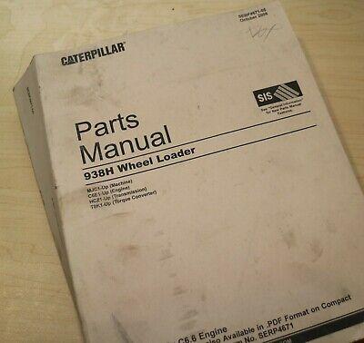 Cat Caterpillar 938h Wheel Loader Parts Manual Book Catalog Front End Mjc Series