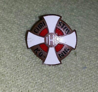 alte Anstecknadel Abzeichen IHS Christus König