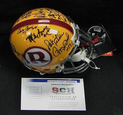 70 Greatest Washington Redskins SIGNED Authentic Mini Helmet W/ 14 AUTO'S  SCH