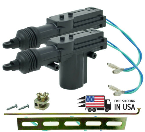 2PCS Universal 2 Wires 12V Car Auto Motor Heavy Duty Power Door Lock Actuator