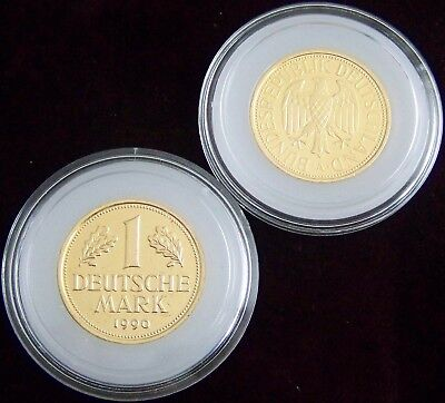 ORIGINAL KAPSEL FÜR - 1 GOLD DM MÜNZE 2001 - GOLDMÜNZE - MARK