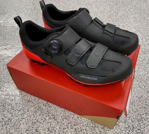 NEW Specialized Comp MTB Mountain Bike Shoes 43 Black Rocket Red Gravel BMX