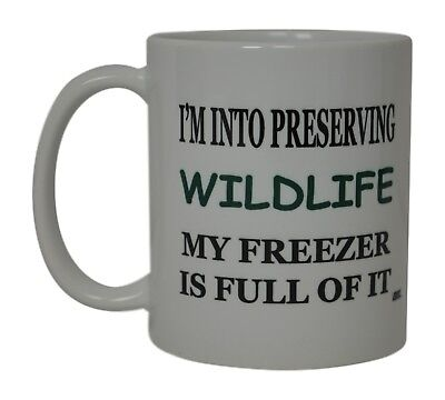 Best Funny Coffee Mug Tea Cup Gift Novelty Preserving Wildlife In My Freezer