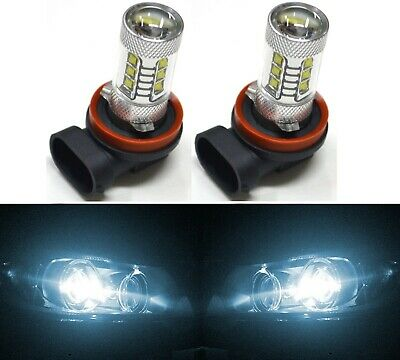 LED 80W H11 White 6000K Two Bulbs Head Light Replacement Motorcycle Bike