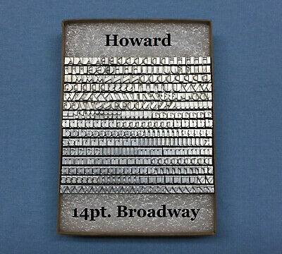 Howard Personalizer Type - 14pt. Broadway - Hot Foil Stamping Machine