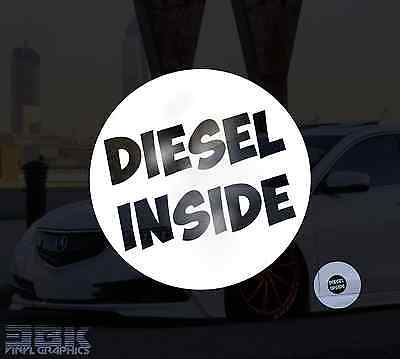 Diesel Inside Funny Car/Window/Bumper Euro Dub Vinyl Decal Sticker