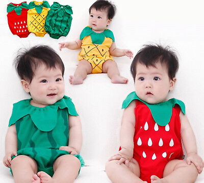 Baby Kid Girl Boy Halloween Watermelon Strawberry Fruit Party Costume Romper