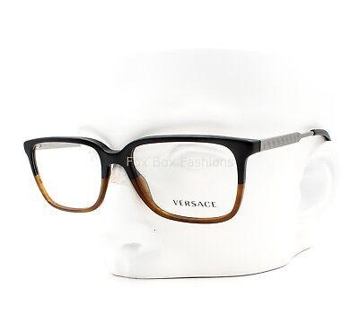 VERSACE MOD 3209 5134 Eyeglasses Glasses Matte Black ~ Matte Havana ~ 55mm