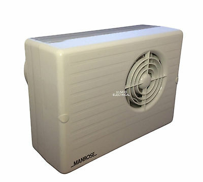 Manrose CF200T Centrifugal Bathroom Extractor Fan with run on Timer - 4""