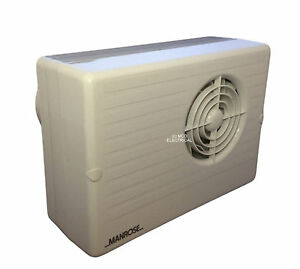 Manrose cf200t centrifugal bathroom extractor fan with run on timer 4 ebay for In line centrifugal bathroom fan