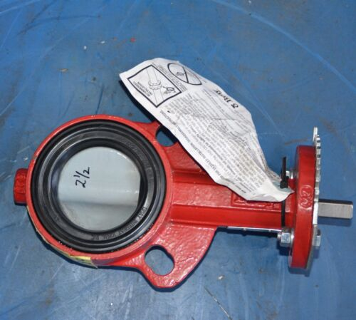 """BRAY CONTROLS 2.5"""" BCH 0038 PRC 8L15X Wafer Type 30 Butterfly Valve Coated Disc"""