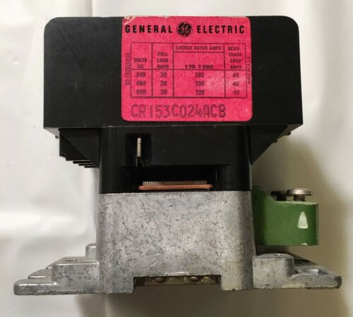 GE General Electric CR153C024ACB  1Ph 2 Pole Contactor 30 Amp, 240, 480 or 600 V