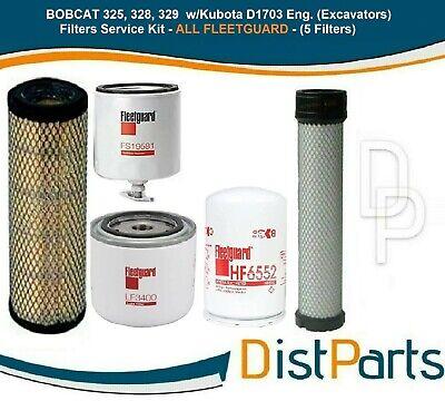 Bobcat 325 328 329 W Kubota D1703 Eng Excavators Filters Kit Fleetguard