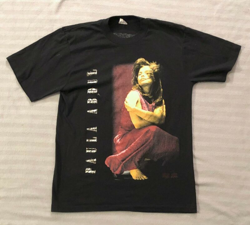 Vintage Paula Abdul 1991 Under My Spell Tour 92 Shirt Medium Backstage Pass