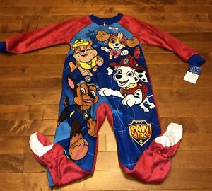 0f1d813d58 Paw Patrol Toddler Boy Red Footed Blanket Sleeper Pajamas New 4T
