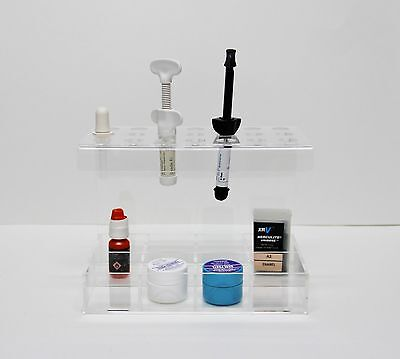 Dental Premium Composite Syringes And Accessories Organizer Holder By Plasdent
