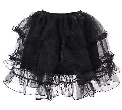 JL-652 schwarz Kristall Organza Petticoat Harajuku Tutu Rock Pastel Goth Lolita