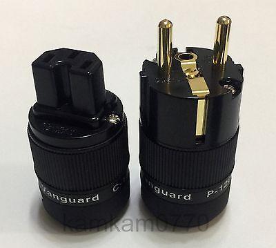 Vanguard For Audio 24K Gold Plated IEC + Eu Schuko plug, C-120 + P-120