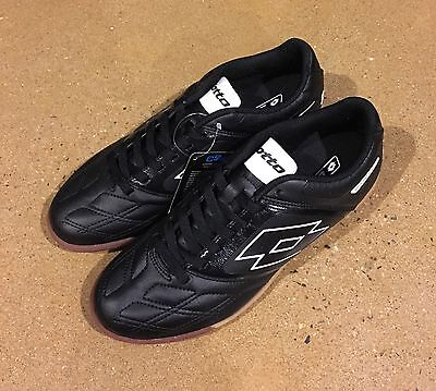 Lotto Stadio Potenza Iv Size 9 5 Mens Black White Athletic Indoor Soccer Shoes
