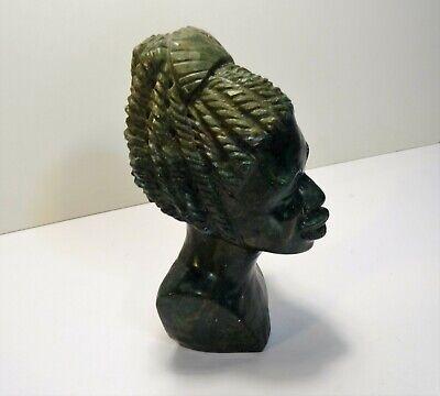 Sculpture Head African Stone Verdite of Zimbabwe