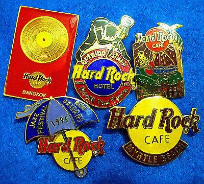 Jazz Cafe Halloween (BARGAIN LOGO STAFF GRAND OPENING HALLOWEEN JAZZ RECORD Hard Rock Cafe 5 PINS)