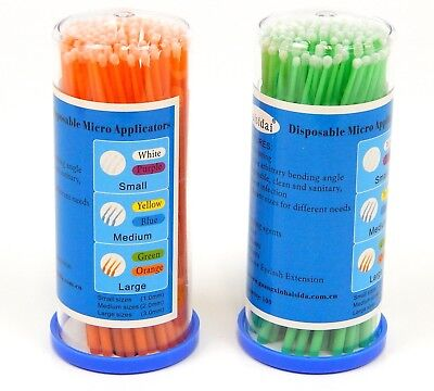 Applicator Head - 200 Pcs Disposable Micro Brushes Cotton Swab Applicators (Large=3mm Head)