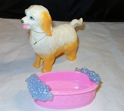 Mattel Barbie Clean Up Pup Dog & Tub - Moving Head & Tail