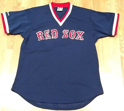 Vintage Majestic Boston Red Sox Navy Pullover Mesh Jersey Size XL (Fits M/L) USA - Majestic Mesh Pullover
