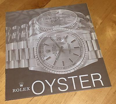 ROLEX Price List 1990 Spain Daytona Zenith 16520 16523 16528 16600 16700 17000
