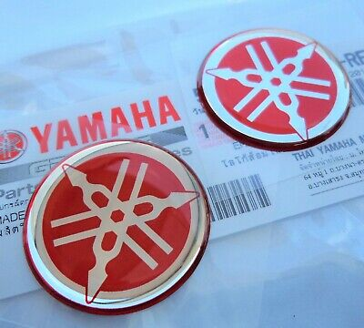 <em>YAMAHA</em> TANK BADGE R1 R6 YZF X 2 40MM  GENUINE  UK STOCK