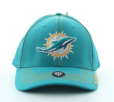 OTS Miami Dolphins Adult Hat, NFL Clincher Ball Cap with Logo, L-X Miami Dolphins Cap