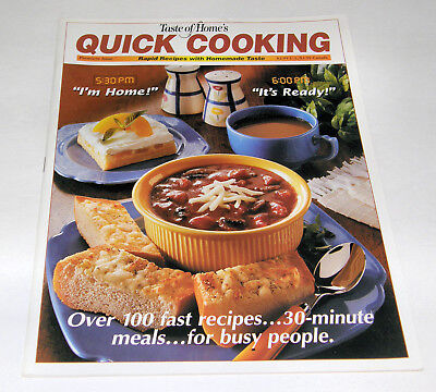 - Taste of Home Quick Cooking Magazine - Premier Issue 1998 - From My Collection
