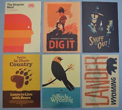 Firewatch Olly Moss Set Of 6 Mini Art Prints Set Poster Postcard