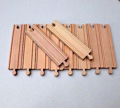 Holzeisenbahn Schienen gerade 15 cm 10er-Pack