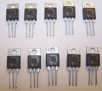 New 10 Pcs S6008l 600v 8 Amp Sensitive Gate Thyristor Scr To-220 Pack 5p6-22-01